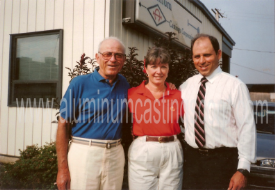 Aluminum Castings Corp's Philip Cirimotich, Roger Cirimotich, and Lana Rush