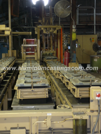 aluminum castings corporations sand mold conveyor