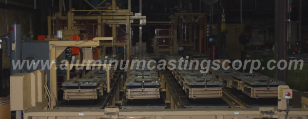 aluminum castings corporations sand mold handler system