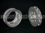 Adapter bracket in 319 aluminum & cast and chain handwheel casting