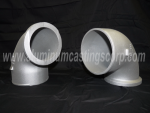 Large hallow aluminum tube sand castings