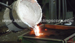 pouring aluminum alloy 356 and a356 sand castings